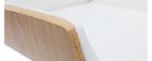 Poltrona da ufficio design legno chiaro e bianco CURVED