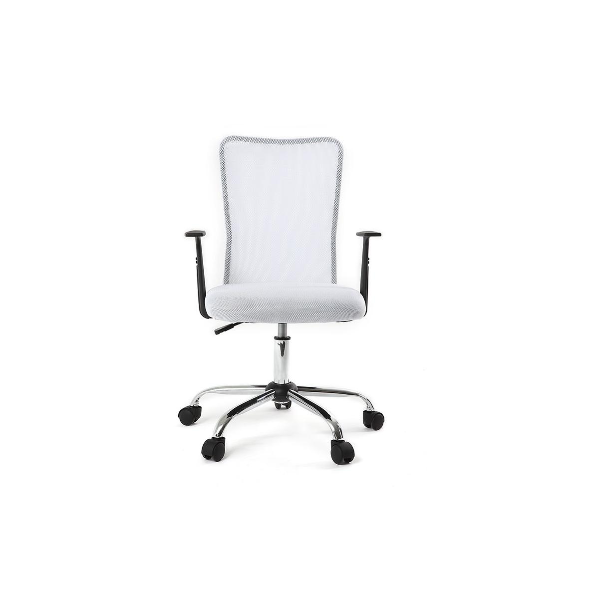 Poltrona da ufficio design mesh bianco PLUZ