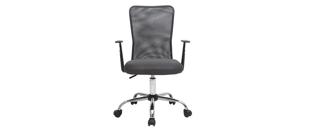Poltrona da ufficio design mesh grigio PLUZ