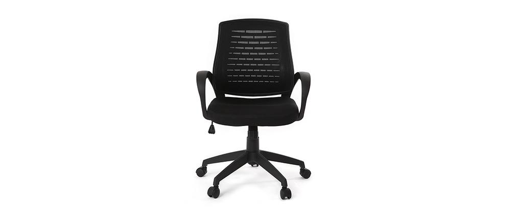 Poltrona da ufficio design mesh nero JUNIO