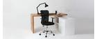 Poltrona da ufficio design mesh nero PLUZ