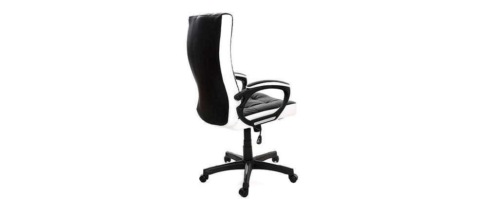 Poltrona da ufficio design nera e bianca LORENZO