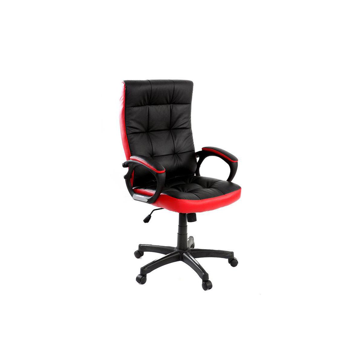 Poltrona da ufficio design nera e rossa LORENZO