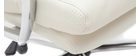 Poltrona da ufficio design pelle bianco TILIO