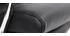 Poltrona da ufficio design pelle nero TILIO