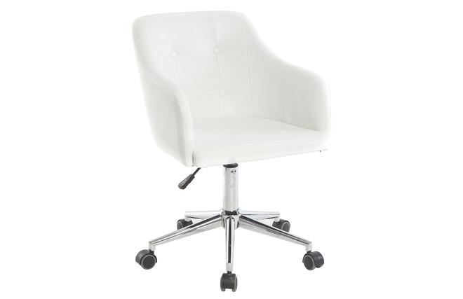 Poltrona Ufficio Bianco : Poltrona da ufficio design pu bianco baltik miliboo