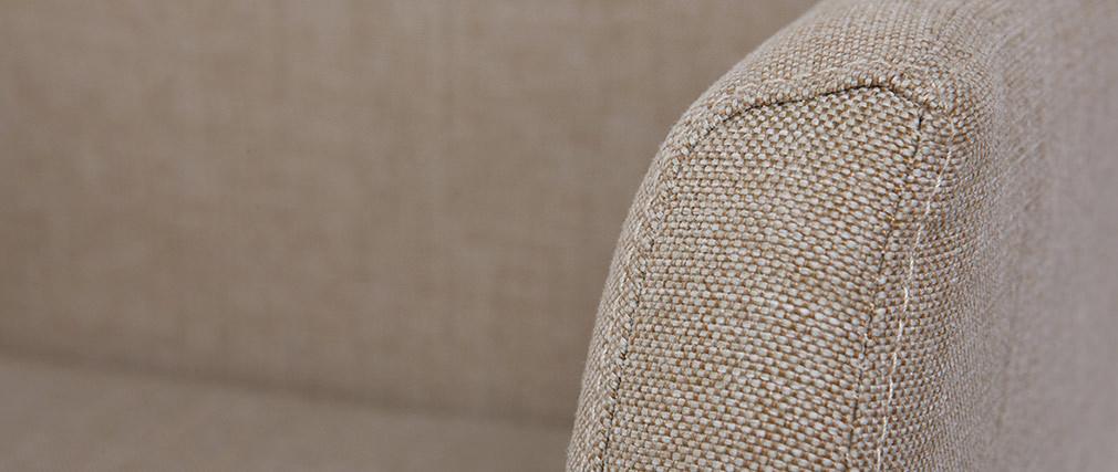 Poltrona da ufficio design tessuto crema ARIEL