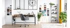 Poltrona da ufficio design tessuto grigio antracite SHANA