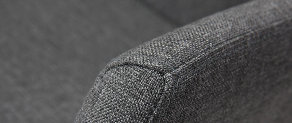 Poltrona da ufficio design tessuto grigio ARIEL