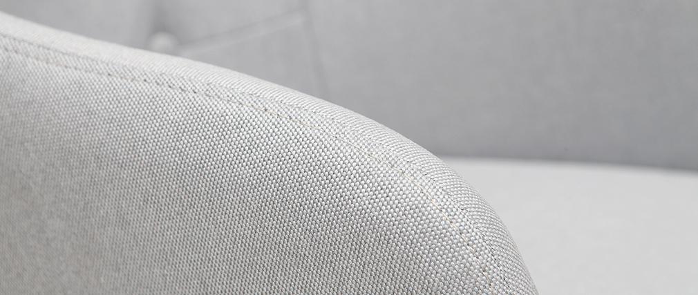 Poltrona da ufficio design tessuto grigio chiaro BALTIK