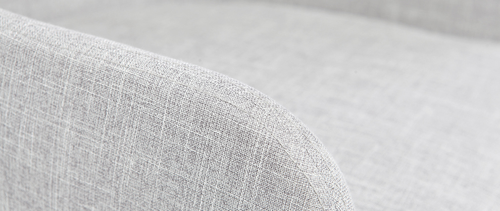 Poltrona da ufficio design tessuto grigio ghiaccio SHANA