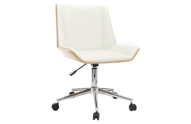 Ufficio Bianco E Legno : Poltrona da ufficio di design in poliuretano colore bianco e