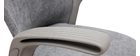 Poltrona da ufficio di design in tessuto grigio RISTER