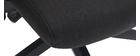 Poltrona da ufficio di design in tessuto nero CHUCK