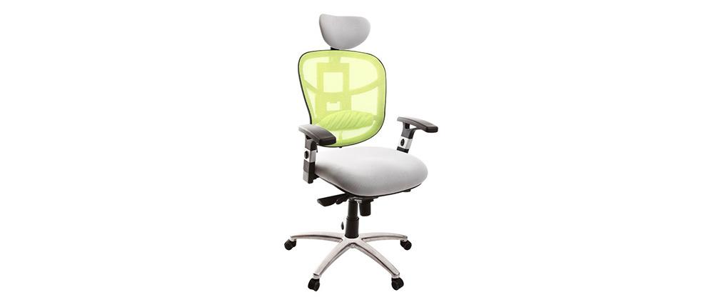 Poltrona da ufficio ergonomica anice e bianco opzione appendi abiti UP TO YOU