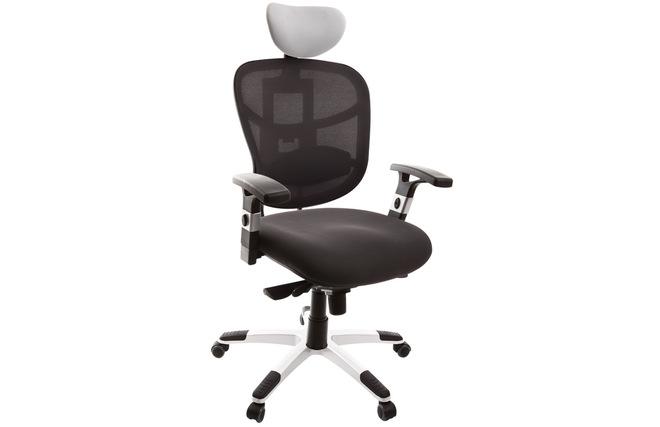 Poltrona da ufficio ergonomica bianca e nera up to you miliboo