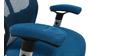Poltrona da ufficio ergonomica Blu ULTIMATE V2 plus