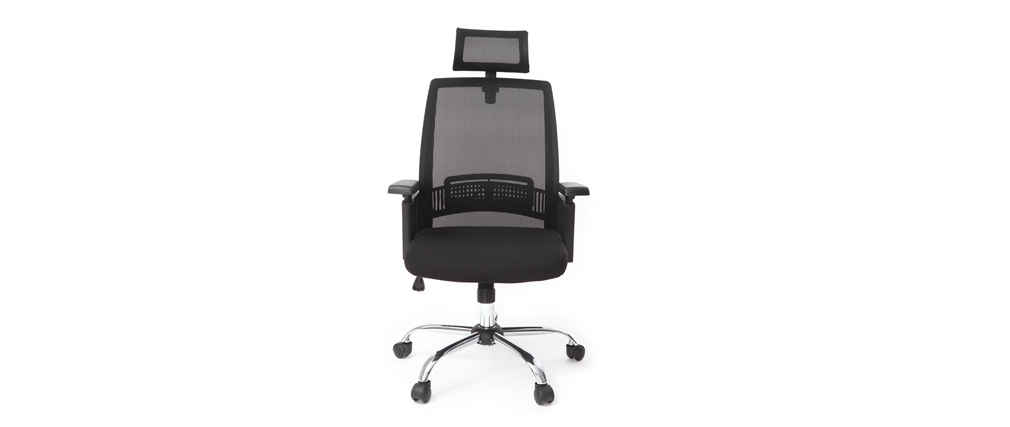 Poltrona da ufficio ergonomica design nero TITAN
