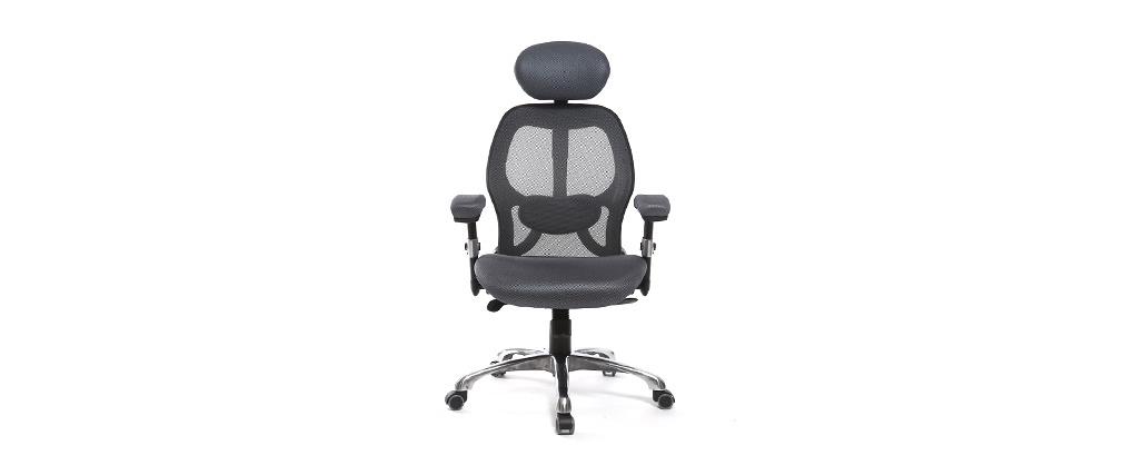Poltrona da ufficio ergonomica Grigio ULTIMATE V2 plus
