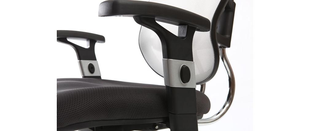 Poltrona da ufficio ergonomica nera e bianca UP TO YOU