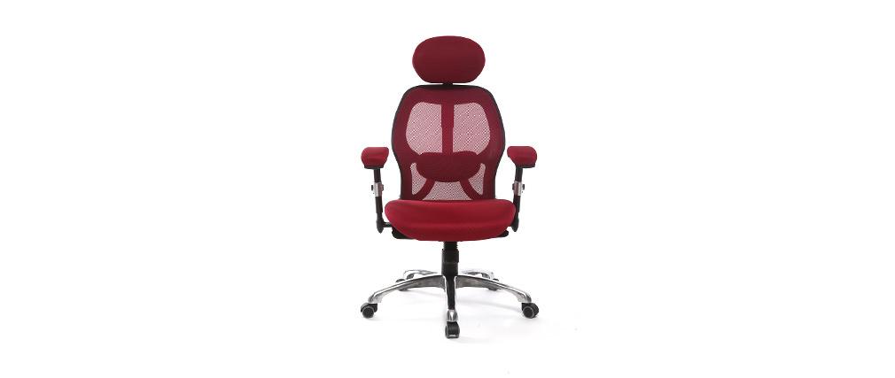 Poltrona da ufficio ergonomica Rosso ULTIMATE V2 plus