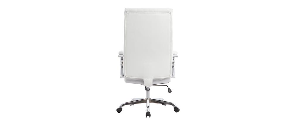 Poltrona da ufficio girevole design bianco TOWER