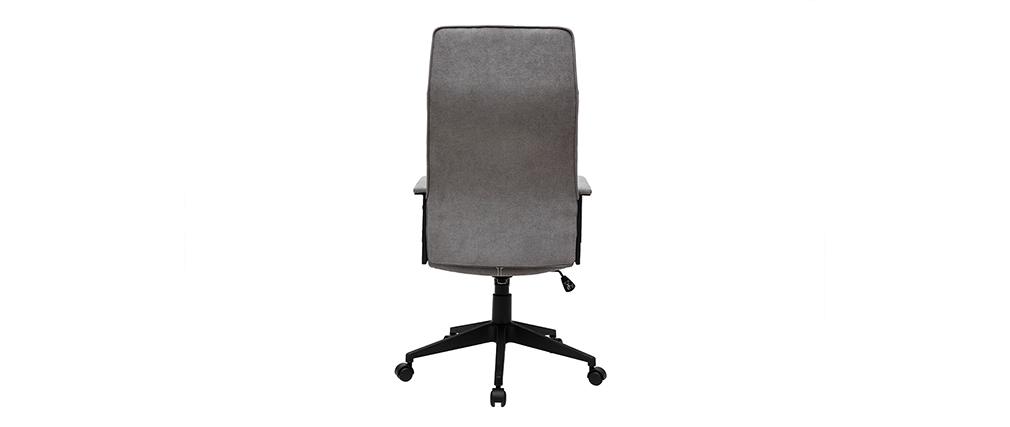 Poltrona da ufficio in metallo e tessuto grigio MARSHALL
