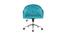 Poltrona da Ufficio in velluto Blu anatra SHARON