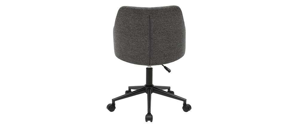 Poltrona da ufficio moderna in tessuto grigio HEMMY