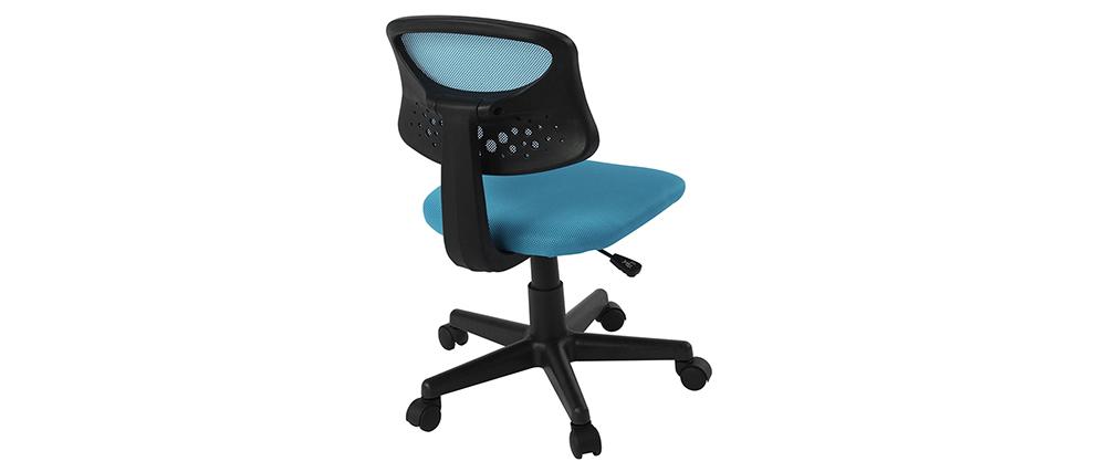 Poltrona da ufficio per bambino mesh blu MEL