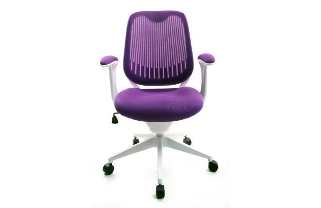 Set Da Scrivania Viola : Poltrona da ufficio tessuto maglia viola leni v2 miliboo