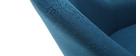 Poltrona design blu piedi legno scuro MONA