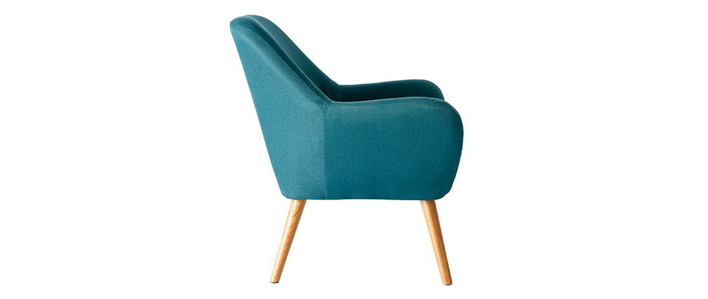 Poltrona design color blu petrolio MIRA