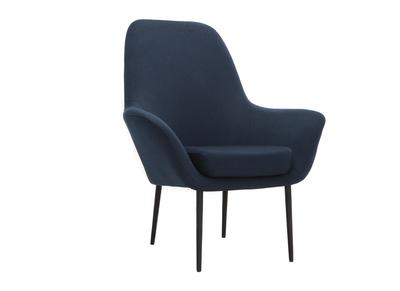 Poltrona design contemporaneo blu OSWALD