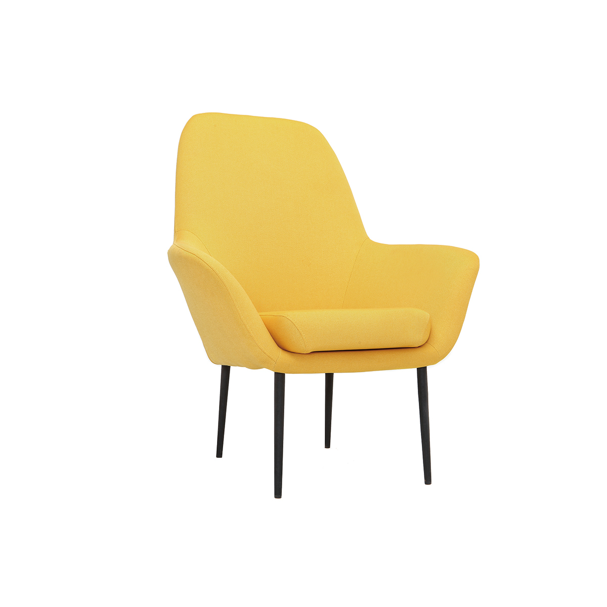 Poltrona design contemporaneo giallo OSWALD