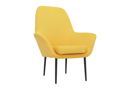 Poltrona design contemporaneo giallo OSWALD