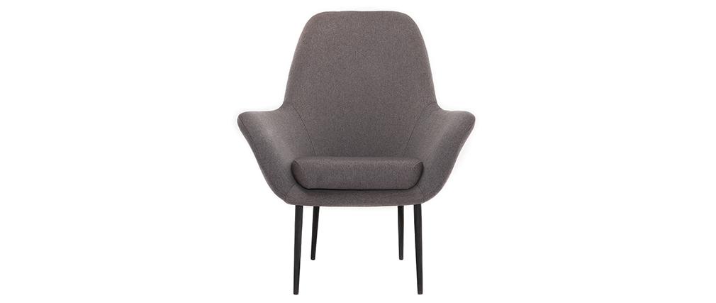 Poltrona design contemporaneo grigio OSWALD