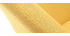 Poltrona design giallo piedi legno scuro MONA