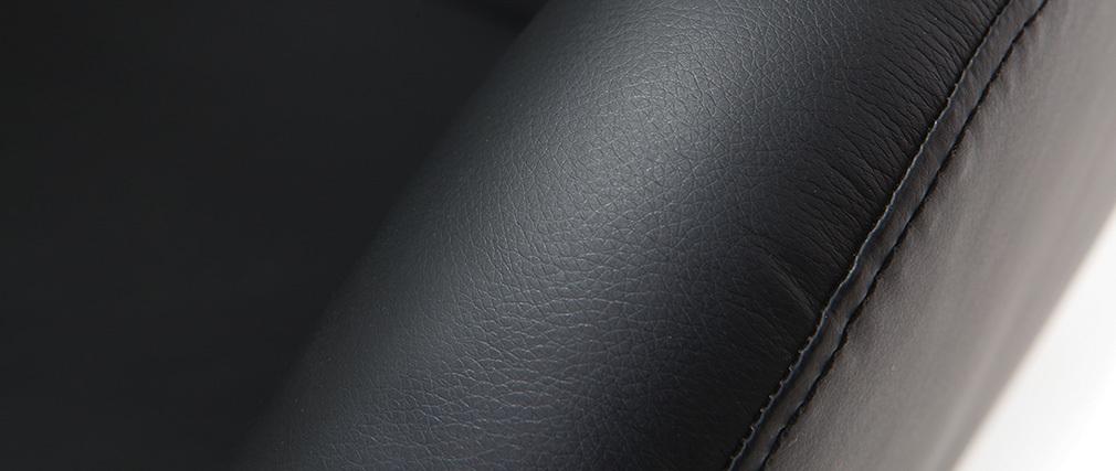 Poltrona design girevole nera HAVEN