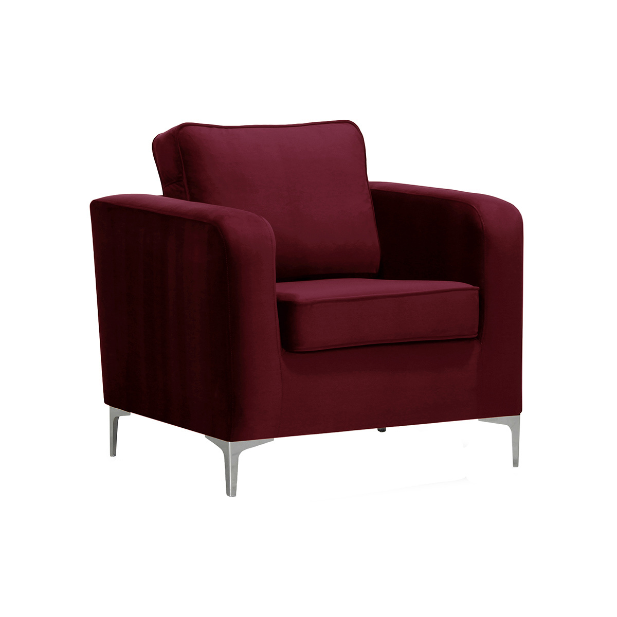 Poltrona design in velluto bordeaux HARRY