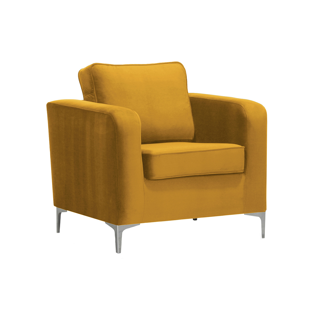 Poltrona design in velluto dorato HARRY