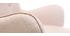 Poltrona design scandinava con poggiapiedi rosa e legno chiaro BRISTOL