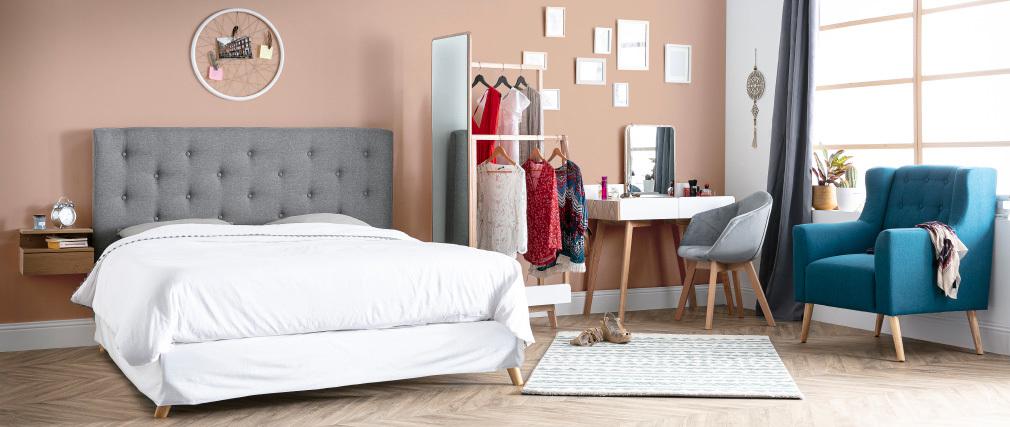 Poltrona design scandinava foglia di tè e legno chiaro BRIGHTON