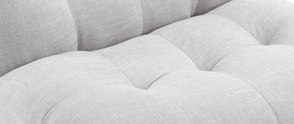 Poltrona design scandinavo grigio e quercia YUMI