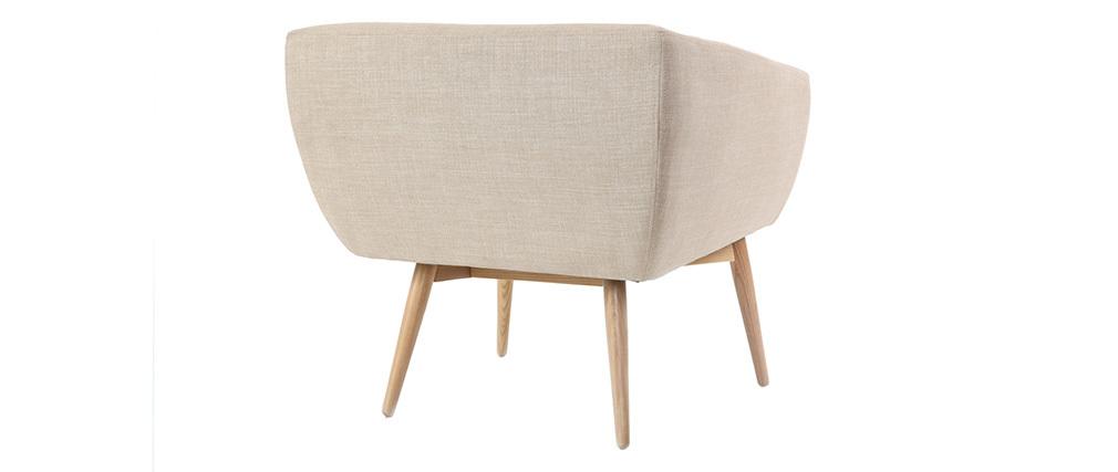 Poltrona design seduta in tessuto color naturale - ARTIK
