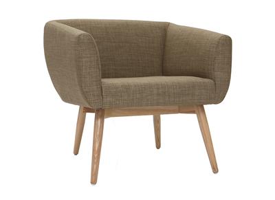 Poltrona Design Prezzi Bassi.Poltrona Design Seduta In Tessuto Color Verde Oliva Artik