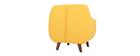 Poltrona design sfoderabile giallo YNOK