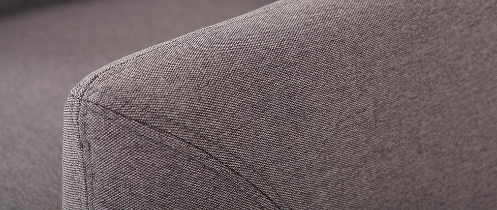 Poltrona design sfoderabile grigio antracite YNOK