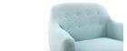 Poltrona design sfoderabile verde acqua YNOK