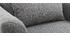 Poltrona design tessuto grigio e quercia KATE